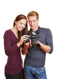 Photographer and model looking at Royalty Free Stock Images