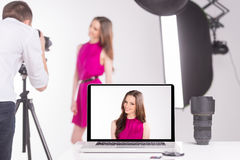 Photographer and model. Royalty Free Stock Photography