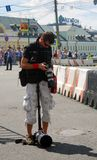 Photographer at Moscow City Racing Stock Photo