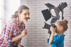 Photographer in motion. royalty free stock images