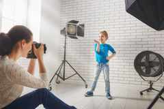 Photographer in motion. royalty free stock photo