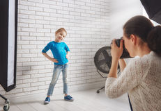 Photographer in motion. royalty free stock image