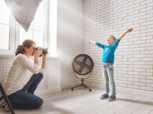 Photographer in motion. royalty free stock photos