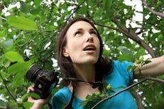 Photographer on nature. Royalty Free Stock Image