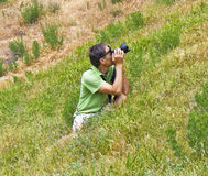 Photographer on nature Stock Photos