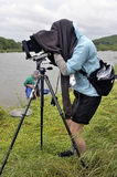 Photographer in nature Royalty Free Stock Images