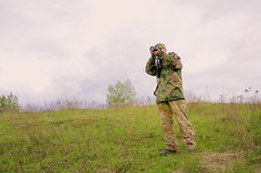 Photographer in nature Royalty Free Stock Photos