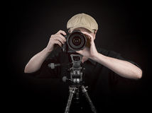Photographer with a nice camera Stock Images