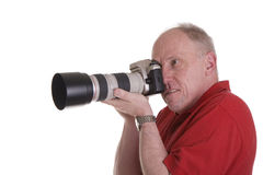 Photographer with Nice Lens Stock Photo