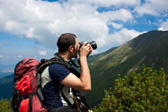 Photographer outdoor Royalty Free Stock Images