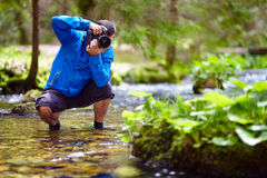 Photographer outdoor Stock Images