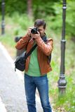 Photographer outdoors Royalty Free Stock Photography