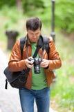 Photographer outdoors Royalty Free Stock Photos