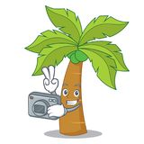 Photographer palm tree character cartoon Royalty Free Stock Photography