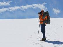 Photographer on Parang plateau Royalty Free Stock Photo