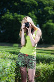 Photographer in park Royalty Free Stock Images