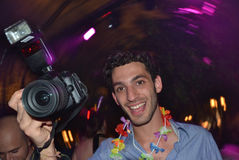 Photographer at a party Royalty Free Stock Photos