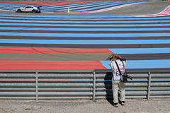 Photographer on Paul Ricard High Tech Test Track Royalty Free Stock Photos