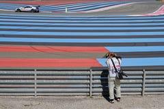 Photographer on Paul Ricard High Tech Test Track Royalty Free Stock Photos