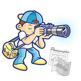 Photographer and photo shoot Stock Photography