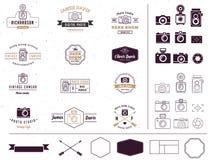 Photographer and photo studio sign, element, icon Stock Photography
