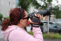 Photographer, Photograph, Lens Stock Photo