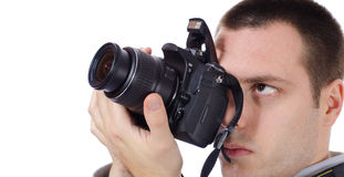 Photographer Photographing concept Royalty Free Stock Photography