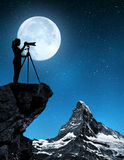 Photographer photographing Matterhorn Royalty Free Stock Image