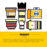 Photographer or photostudio concept design illustration. Stock Images
