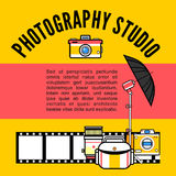 Photographer or photostudio concept design illustration. Royalty Free Stock Photography