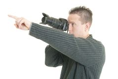 Photographer pointing Royalty Free Stock Photography