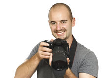 Photographer portrait Royalty Free Stock Images