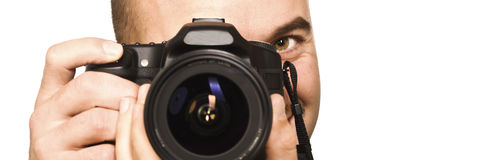 Photographer portrait Royalty Free Stock Photos