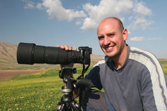 Photographer posing Stock Image