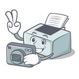 Photographer printer mascot cartoon style. Vector illustration Stock Photo