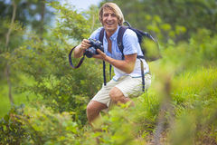 Photographer with Professional Digital Camera Royalty Free Stock Photos