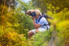 Photographer with Professional Digital Camera Stock Photos