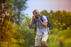 Photographer with Professional Digital Camera Royalty Free Stock Photo