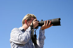 Photographer profile Stock Image