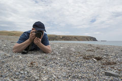 Photographer at Rapid Bay, South Australia Stock Photography