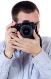 Photographer ready to shoot Royalty Free Stock Photos