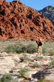 Photographer Red rock canyon Stock Photo