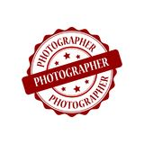 Photographer stamp illustration Royalty Free Stock Photography