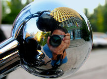Photographer reflection Royalty Free Stock Images
