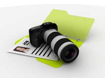 Photographer resume folder Royalty Free Stock Photo