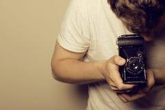 Photographer - Retro Shooting Royalty Free Stock Photo