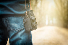 Photographer on road Royalty Free Stock Photography