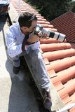 Photographer on the roof Stock Photo