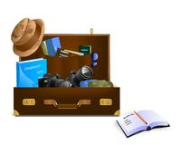 Photographer S Luggage, Cdr Vector Stock Photo