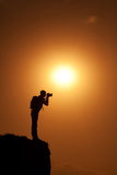 Photographer's silhouette Royalty Free Stock Photography